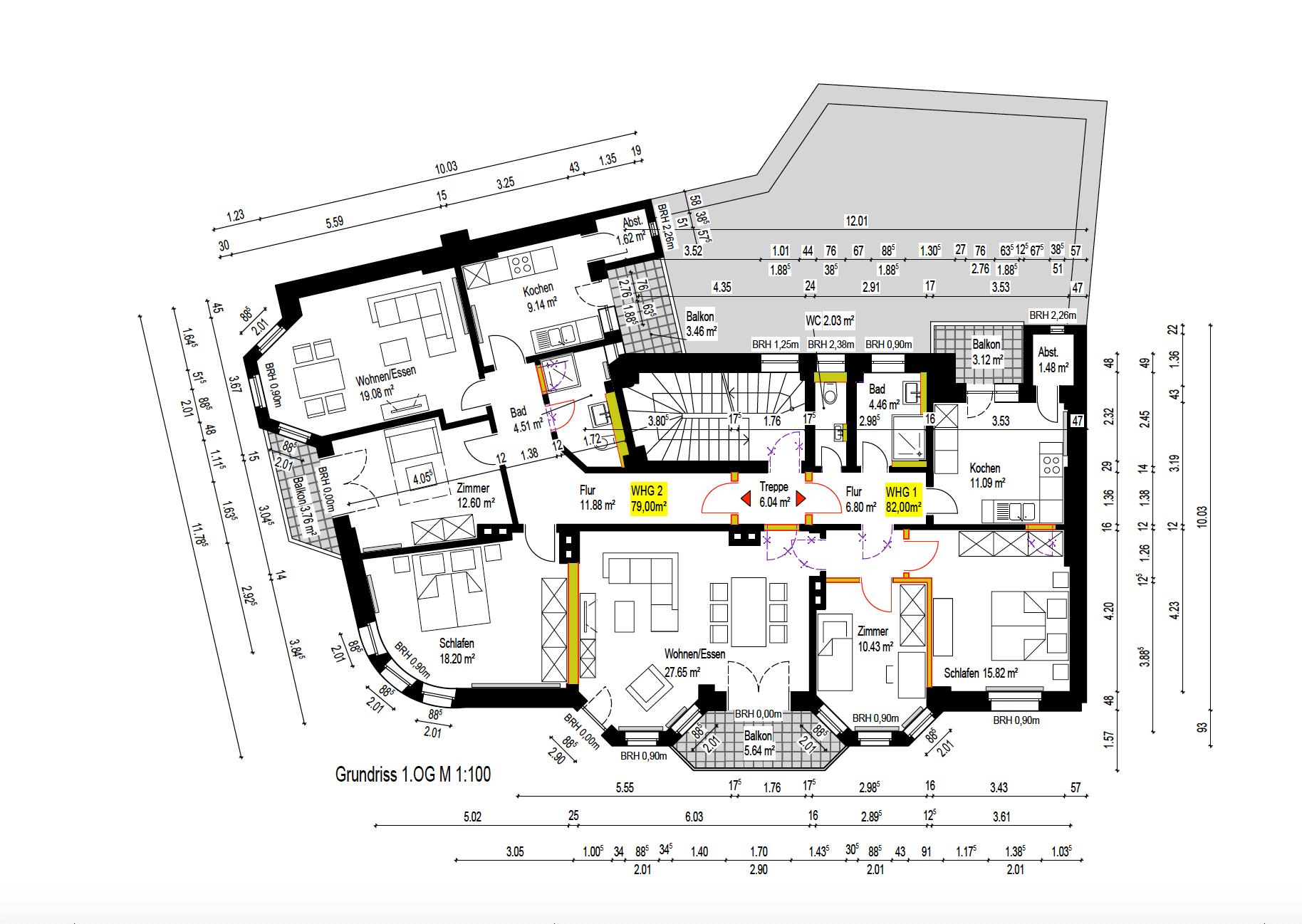 Neuer Grundriss 1OG